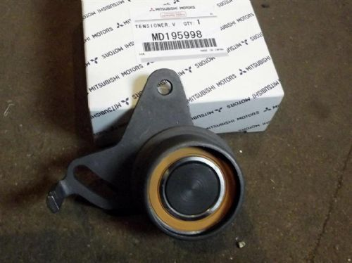 Timing belt tensioner pulley, genuine Mitsubishi Pajero Mini, for 147T belt, MD195998